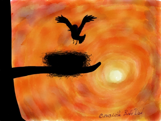 Bird Nest Silhouette
